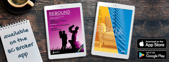 Rebound, Strata Insurance - available on the BC Broker app
