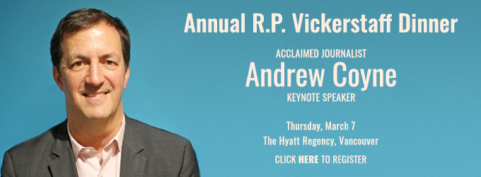 R.P. Vickerstaff Annual Dinner - click to register